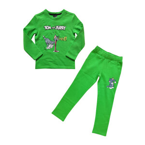 Platinum sports Kids winter clothing's Set Neon Green (Sweat shirt and sweat pant Boys)
