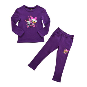 Platinum Sports Kids Winter Clothing's Set Violet (Sweat shirt and sweat pant Girls)