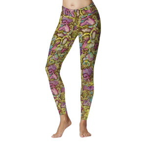 Be Fit Sports Legging Rainbow Snake Design