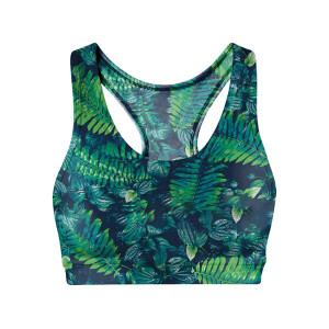 Be Fit Sports Bra Neon Palm Design